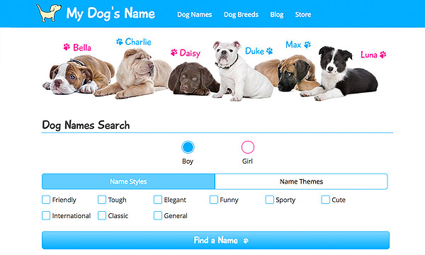 dog name site