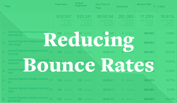 reducing bounce rates