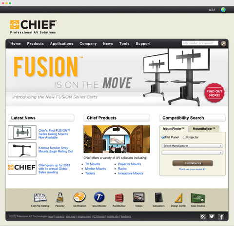 chief 2012 homepage